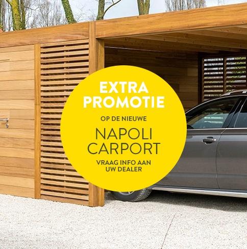 Extra promo op de Napoli carport