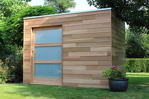 Les abris de jardin modernes de woodstar houten for Photo jardin moderne design
