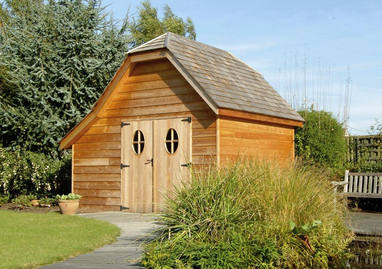Cottage Landelijk tuinhuis | Landelijke tuinbergingen Engelse schuurtjes | West-Vlaanderen