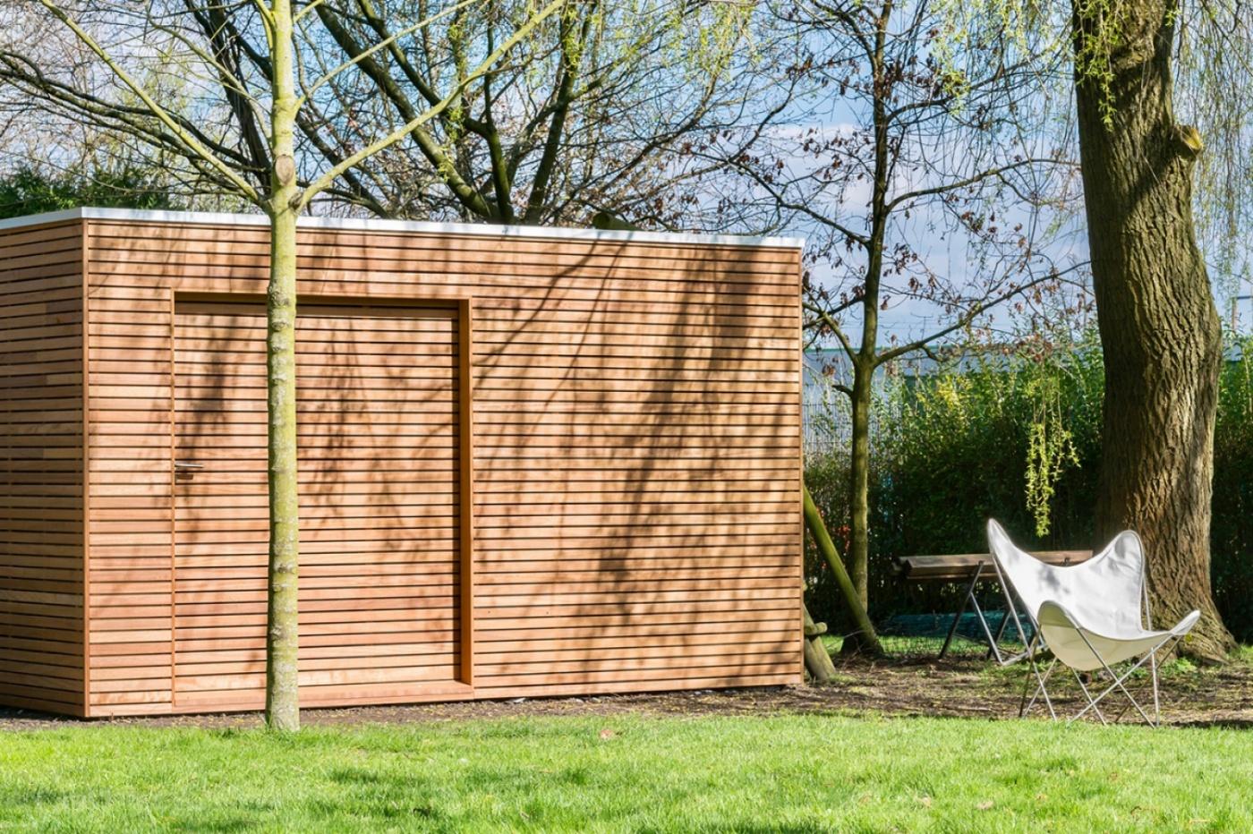 Firenze modern houten tuinhuis | moderne houten tuinhuizen | West-Vlaanderen