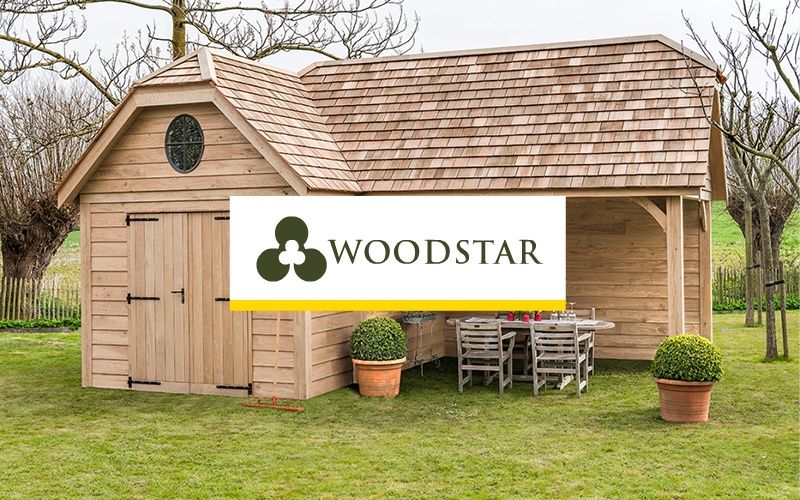 Woodstar luxe houten tuinhuizen, carports & poolhouses